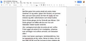 Google Drive - Bilden blir text på ett dokument