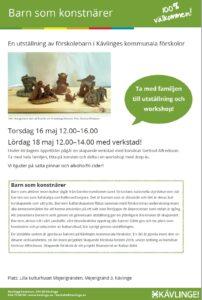 En utställning av förskolebarn i Kävlinges kommunala förskolor